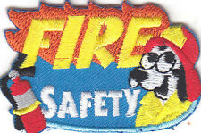 """FIRE SAFETY"" DOG PATCH/Iron On Embroidered Applique /Profession, Firefighter"