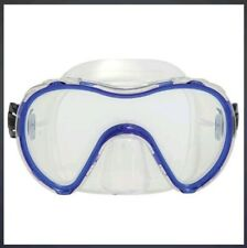 Oceanways Blue/Clear 1 Volume Single Lens Scuba Diving and Snorkeling Mask