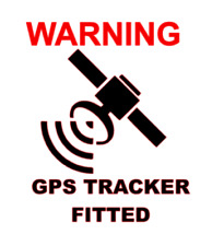 GPS Tracker Fitted Sticker Security Alarm Toad Van Lorry Truck Taxi 60mm x 2