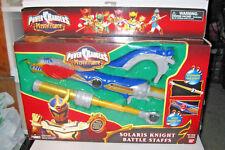 Power Rangers Mystic Force Solaris Knight Battle Staffs MIB BRAND NEW