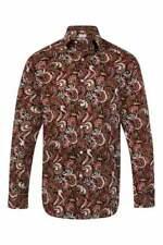 JSS Mens 100% Cotton Regular Classic fit MOD Printed Paisley Floral Shirts S-4XL