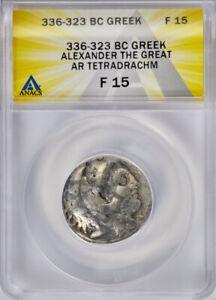 ANACS F15 336-323 BC MACEDONIAN KINGDOM. Alexander III the Great AR tetradrachm