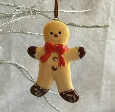Ceramic Gingerbread Man Christmas Tree Hanging Decoration Retro Vintage Men