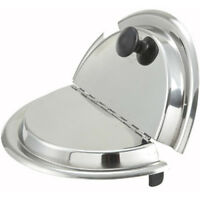 Winware by Winco Hinged Inset Cover, Stainless Steel Size 11 Quart