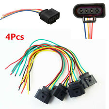 4Pcs 1J0973724 New Ignition Coil Connector Plug Pack Wiring Harness Set
