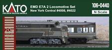 KATO 1060440 N SCALE EMD E7A/A New York Central 2 A/A Locomotive Set 106-0440