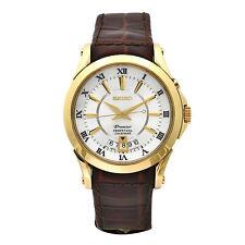 Seiko SNQ118 Men's Premier Silver Dial Perpetual Calendar Watch