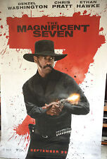 Cinema Banner: MAGNIFICENT SEVEN 2016 (Chisholm) Denzel Washington Chris Pratt