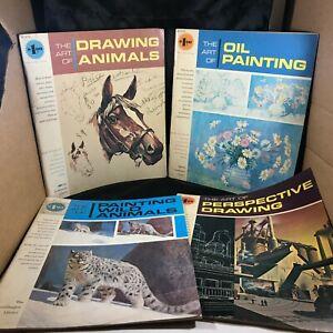 Lot of 4 Vintage GRUMBACHER Library Art Instruction Books