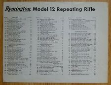 "1950 Original Vtg ""Remington"" Advertisement Featured Model 12 Repeating Rifle"