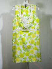 Vintage Lilly Pulitzer Tennis Dress size medium Yellow, White, and Green