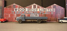 #341 O scale background building flat   WOOD BRO'S  *FREE SHIPPING*