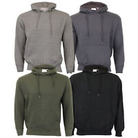 Mens Sweatshirt Over The Head Hoodie Top Pullover Casual Fleece Lined Fashion