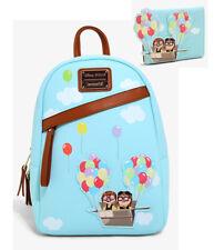 Loungefly Disney Pixar UP Adventure Carl & Ellie Mini Backpack & Wallet Set NEW