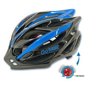 GoMax Bicycle Helmet Safety Cycling MTB Adult Mountain Road Bike LED Tail Light