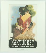 Nantucket Haven Railroad Ben Nason Americana US Destinations Vintage Art Print