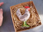 New 3D Dresden Christmas Ornament Standing Rooster Feather Tree Decoration