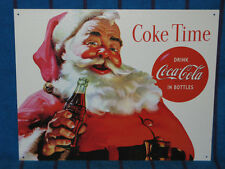 New Tin Sign- Coca-Cola- Coke Time With Santa- Made in USA