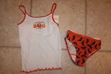 NWT Gymboree Girls Size 3/4 Cutest Pumpkin Bat Halloween Tank Underwear Set