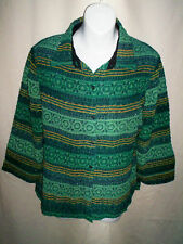 NWT WOMENS COLDWATER CREEK GREEN SPARKLY SHIRT SMALL S