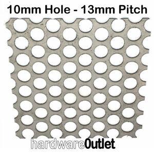 PERFORATED SHEET Metal  3mm / 10mm Ø Holes Aluminium Stainless Mild & GALV Steel