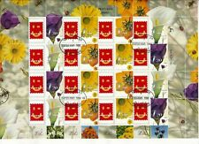 ISRAEL 2003 FLOWERS MY STAMP SMILEY SHEET FDC