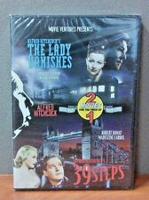 39 Steps & The Lady Vanishes   (Hitchcock Double Feature  DVD)    BRAND NEW