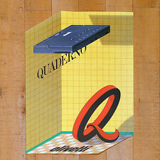 OLIVETTI QUADERNO poster manifesto advertising Computer Laptop Milton Glaser