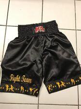 "MMA SHORT K-1 FIGHT TEAM BLACK WITH MUAYTHAI TECHNIQUE Size XL 32""-34"""