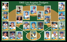 1965 LOS ANGELES DODGERS Custom Baseball Card Poster Unique Team Photo Decor 65