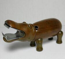 Mid Century Modern Wood Hippopotamus Corkscrew Bottle Opener Bojesen Era Danish