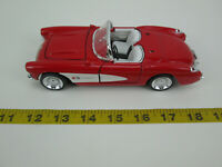 Die Cast 1957 Chevrolet Corvette Convertible Red 1:24 Scale SS7708 USed