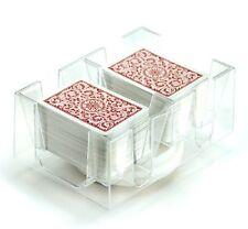 Revolving Playing Card Tray 6 Deck Swivel Holder Canasta Rummy UNO Poker Discard