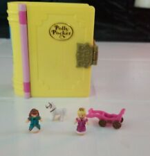 Vintage Bluebird Polly  Pocket Princess Palace Storybook Book Complete compact