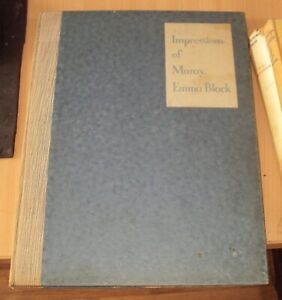 IMPRESSIONS OF MORAY by EMMA BLACK 1st ED 1931 - illustrated