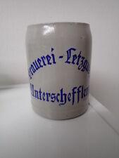 Seltene alter Brauerei Bierkrug: Brauerei Letzguss Unterschefflenz