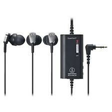 Audio Technica ATH-ANC23 BK QuietPoint Active Noise Cancelling In-Ear Headphones