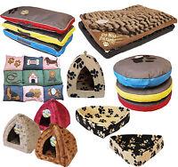 LARGE LUXURY WASHABLE PET DOG CAT BED MATTRESS HOUSE SOFT WARM FLEECE FUR LOOK