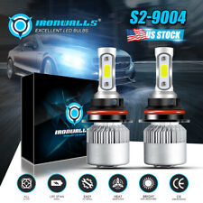 Ironwalls Led Headlight Bulbs 9004 Hb1 High Low Beam 2000W 6000K 300000Lm Lamps(Fits: Lynx)