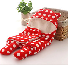 Nursery Bedding Comfortable Blanket Microfiber Red Color Hooded For Baby