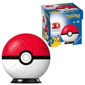 Ravensburger Pokémon 3D 11256 Jigsaw Puzzle Poké Ball 54 Piece 7.5cm Ages 6+