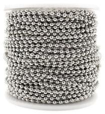 Ball Chain Roll - 100 Feet - Antique Silver (Platinum) Color - 2.4mm Ball #3