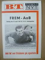 Football Programme 1967- FREM v ABB, 23 April (Danish football Programm)