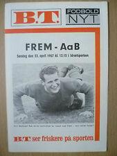 More details for football programme 1967- frem v abb, 23 april (danish football programm)