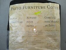 9Kk71 Patio Furniture Cover, About 7' X 4', Black, New Other