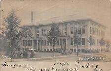 G3/ Polo Illinois RPPC Postcard c1910 Public School Building