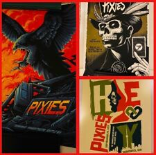 3 Posters Of The Pixies! Yes Three! Ap's Ae's Signed/Numbered Mumford Heart Neal