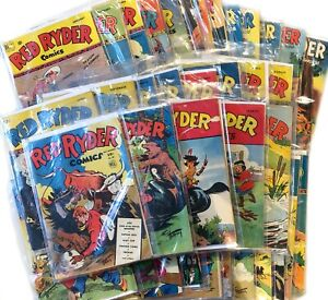 RED RYDER Comic Book Collection *38 Comics* 1944-52 Dell Fred Harman RARE Issues