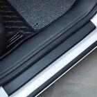 Parts Accessories 4x Carbon Fiber Stickers Car Door Sill Plate Trim Universal