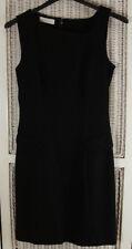 JESIRÉ Vintage Women's Black Cocktail Dress XS Petite Asymmetric Neckline LBD